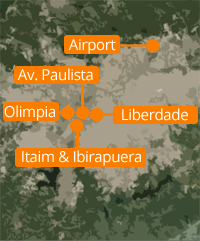 Sao Paulo districts map