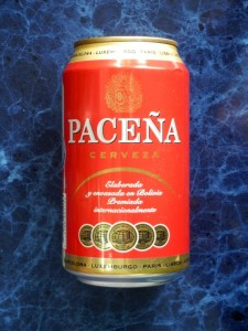 Pacena beer in Bolivia