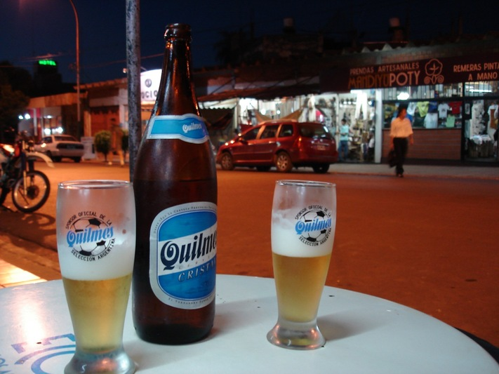 Quilmes beer in Argentina...