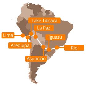 Overland travel from Lima to Rio de Janeiro