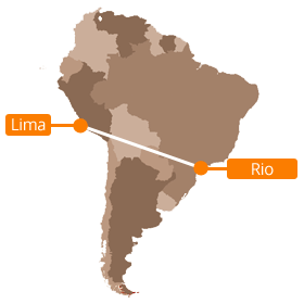 Flying from lima to rio