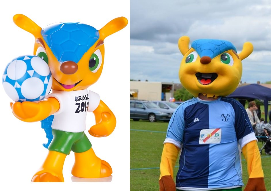 Arnie the Arlesey Armadillo vs FIFA's Fuleco
