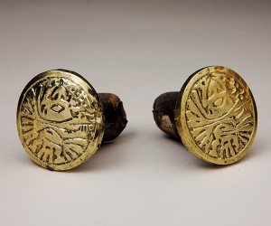 Earrings from Castillo de Huarmey Exhibition