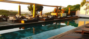 The stunning pool lounge at the Santa Teresa Hotel