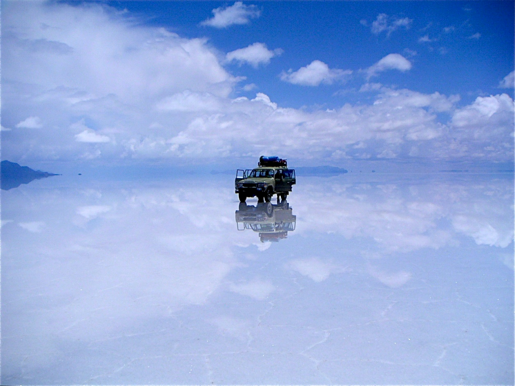 You don't want to get lost out on the Salt Flats!