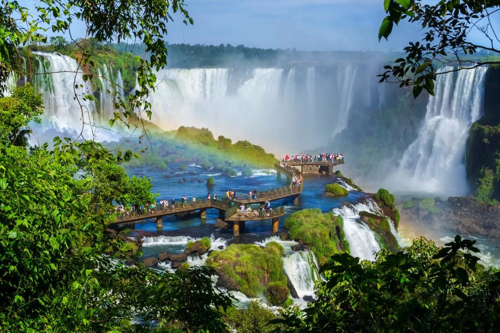 Iguazu Brazil walkway