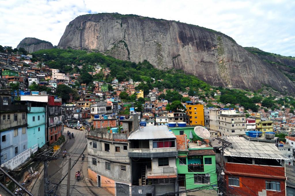 One of Rio's colourful favelas (image via Wikipedia)