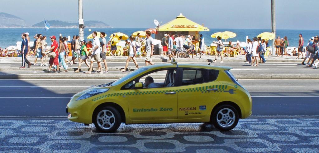 Nissan Leaf taxi Rio de Janeiro