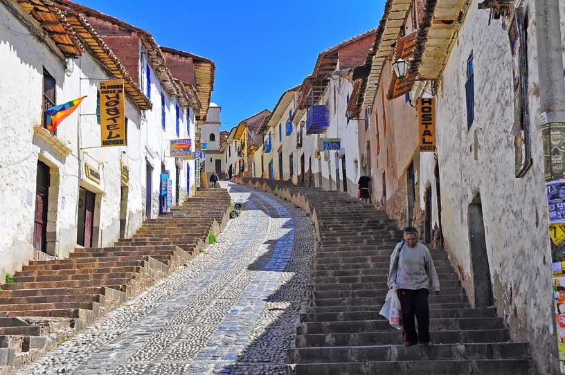 Cusco cobbled streets wikimedia