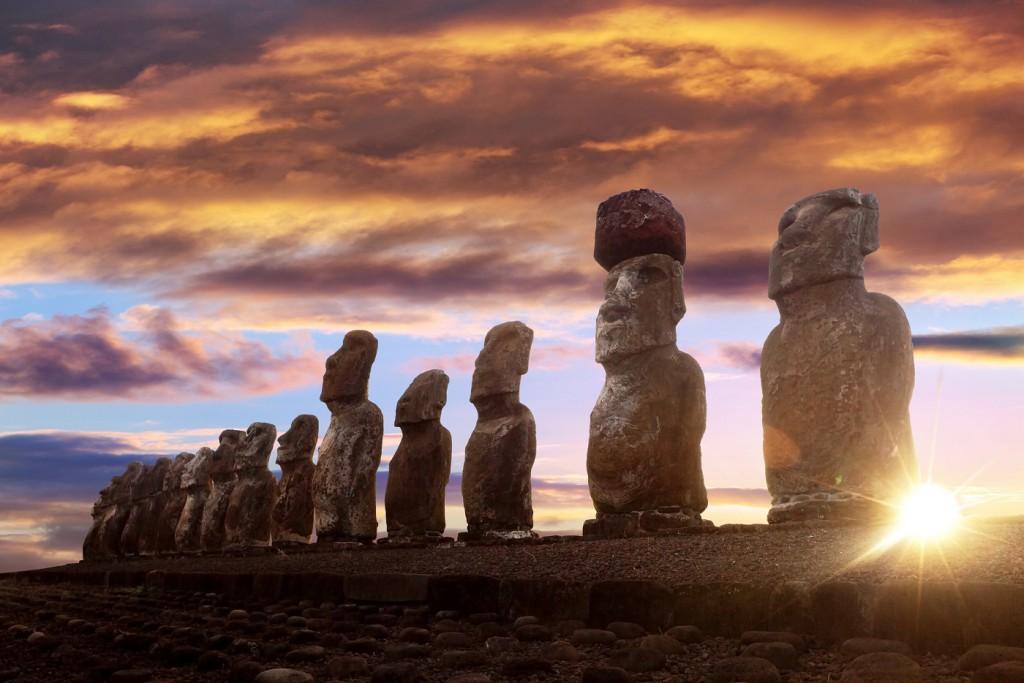 Easter Island sunset RW