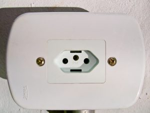 Of all the plug sockets in South America, you had to choose this one!