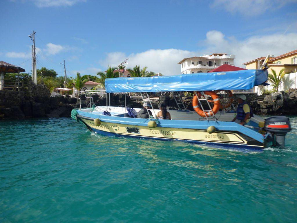 Galapagos water taxi (Wikimedia)