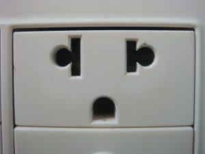 Plug sockets in Peru