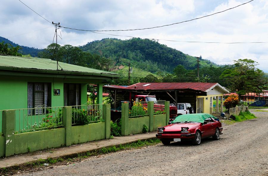 A neighborhood in La Suiza Costa Rica