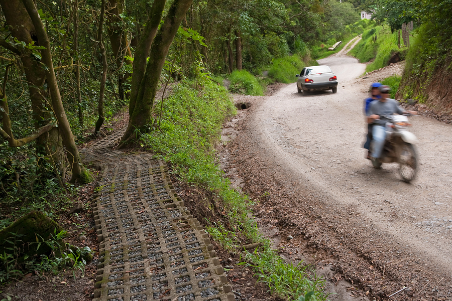 Path and roadway near Monteverde Costa Rica