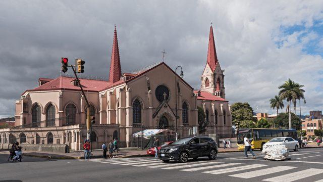 SAN JOSE, COSTA RICA-MARCH 04, 2017: The church Nuestra Senora de la Merced in San Jose, Costa Rica