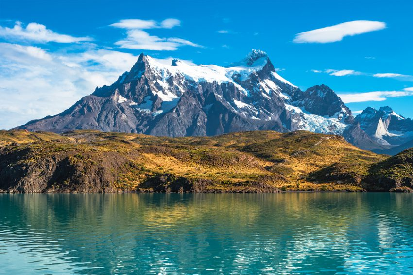 Peaks of Torres del Paine National Park Patagonia Chile
