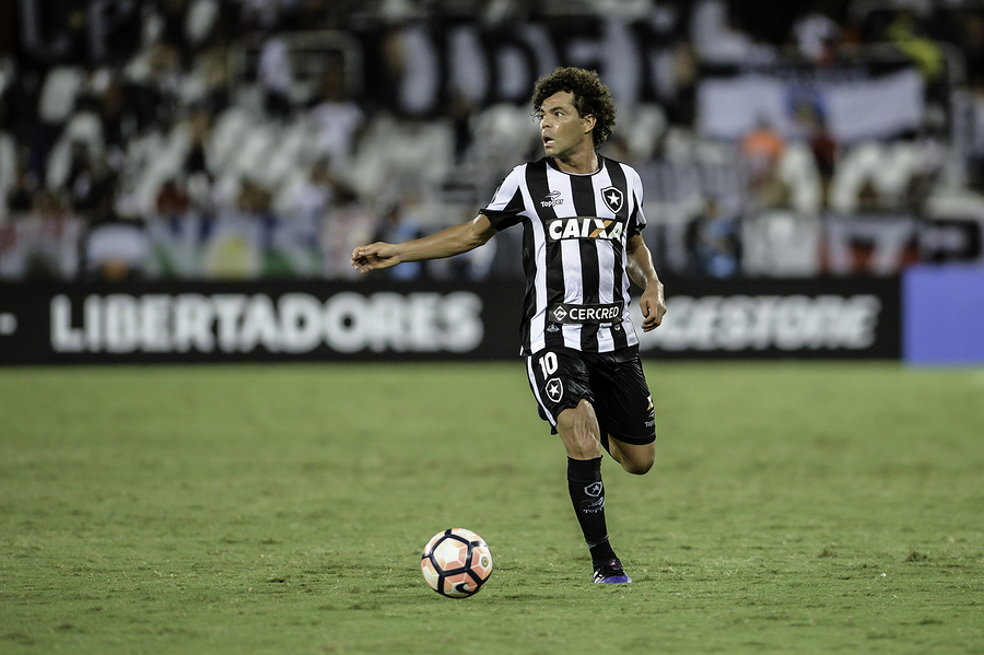 Rio Brazil - february 01 2017: Camilo during Botafogo (BRA) vs Colo Colo (CHI) in the Copa Libertadores of America match at the Nilton Santos Stadium (Engenhao)