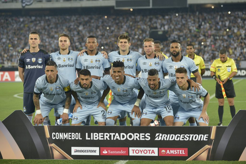 match between Botafogo and Gremio by the Libertadores Cup 2017 in Nilton Santos Stadium