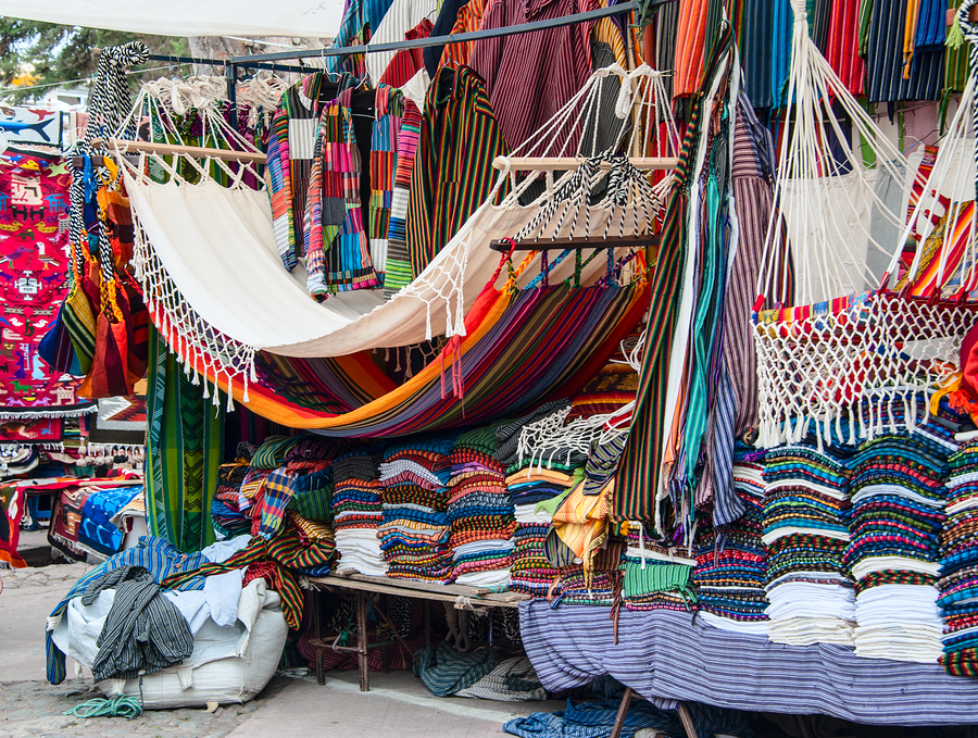 Famous Indian market in Otavalo Imbabura Ecuador South America