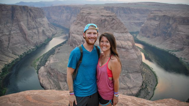 Ben and Katie in front of the Grand Canyon