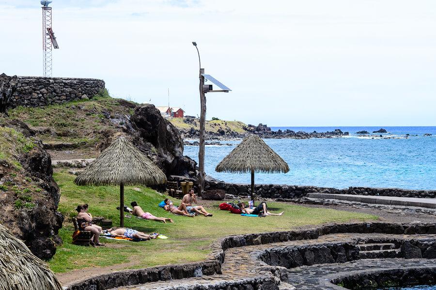 Easter Island Sunbathers