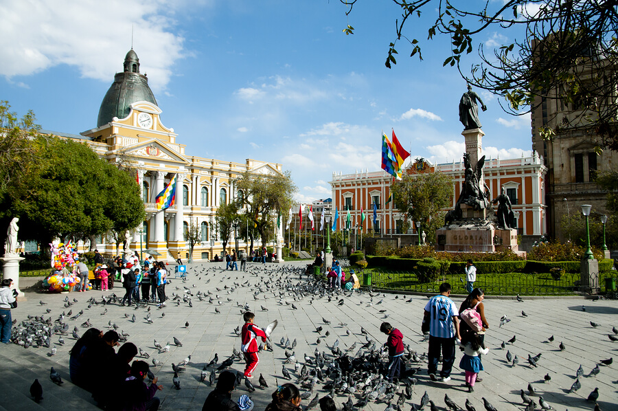 Museums and squares in La Paz.