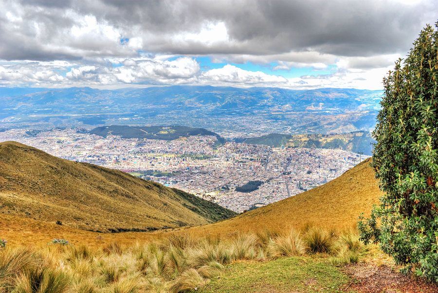 View from the top of the Pichincha volcano