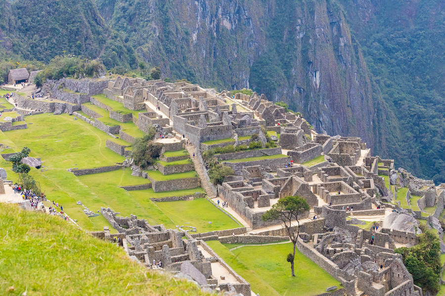 Machu Picchu Peru September 12 2018 on the right side of the main square of Machu Picchu there are the buildings called Acllahuasi which means houses of the chosen women who in ancient times were dedicated to religious service and fine craftsmanship