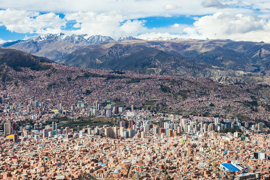 La Paz aerial view, Bolivia.