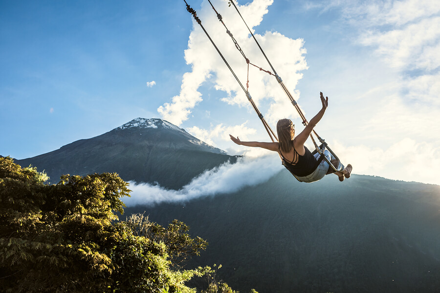 End of The World Swing in Banos, Ecuador.