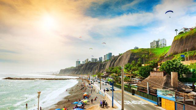 A beautiful beach scene in Peru.