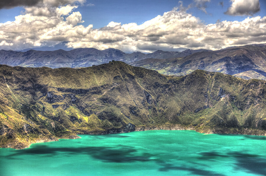 The Volcanic Lake of Quilotoa.