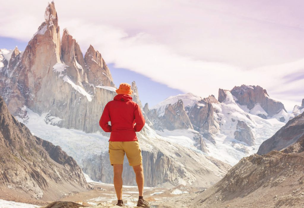 A traveler muses on the beautiful Patagonia Mountains.