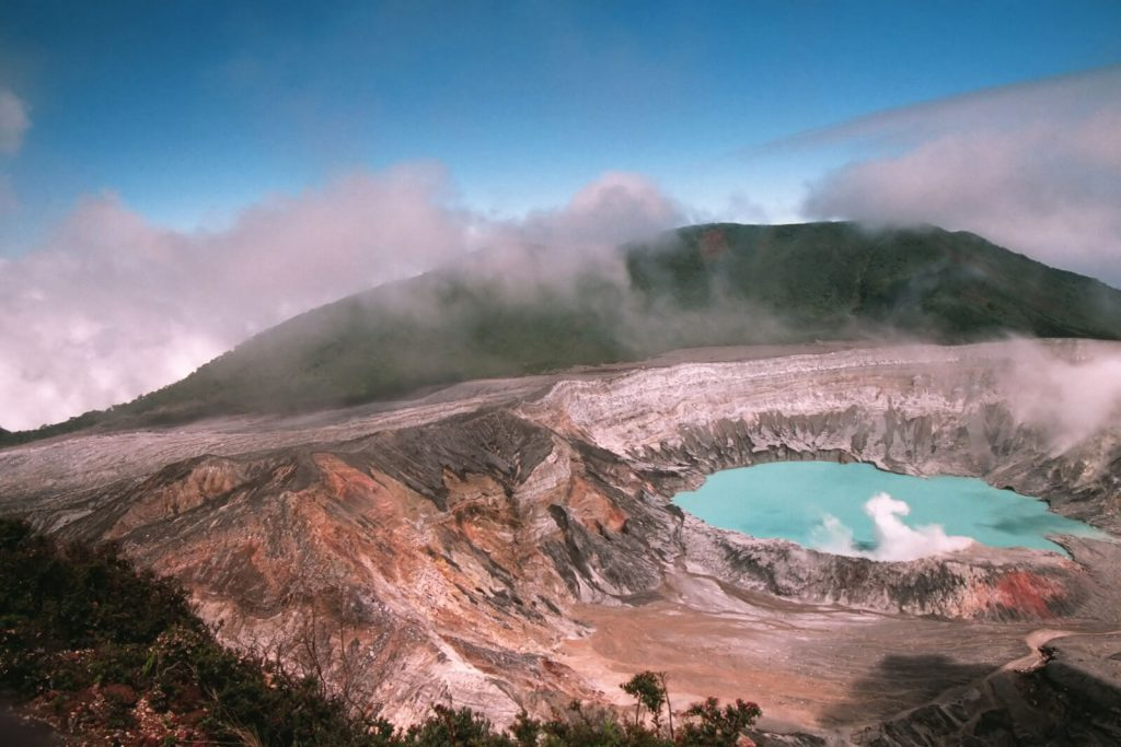 A Beautiful picture of the Poas Volcano in Costa Rica.