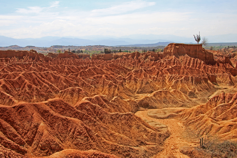 Beautiful desert scene in Tatacoa.