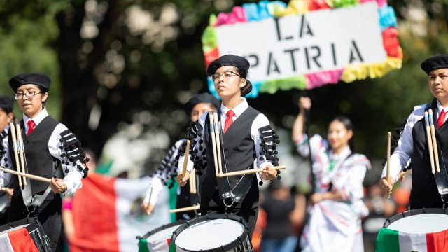 Ladies Celebrating Fiestas Patrias in Peru.