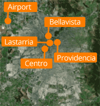 Areas of Santiago