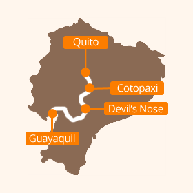 Ecuador Train Map