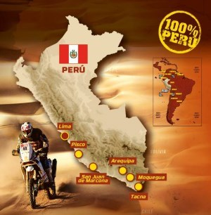 Route for the 2019 Dakar Rally