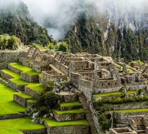 The end of the Inca Trail to Machu Picchu