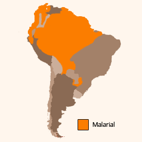 South America Malaria Map
